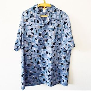 Vintage Abstract Pattern Button Down